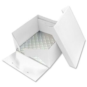 scatola quadrata con vassoio