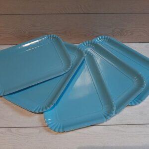 vassoio azzurro per pasticceria