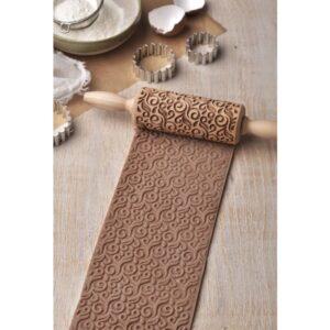 mattarello decorato ghirigori folkroll